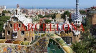 Vista panoramica su Barcellona, Spagna