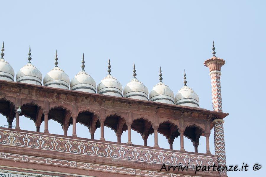Particolare dell'ingresso sud del Taj Mahal - Agra, India