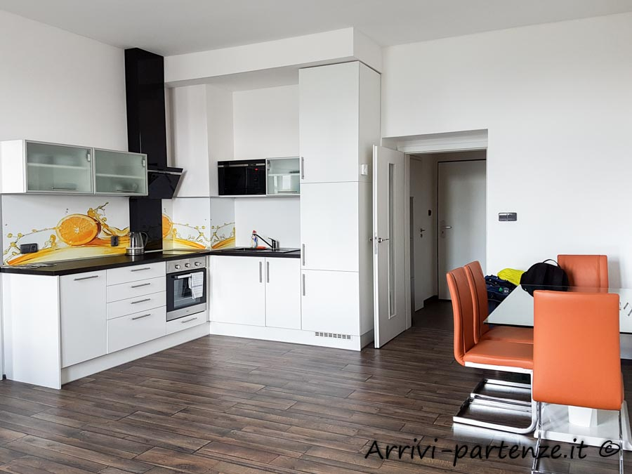 Cucina dell'appartamento Apartsee a Pilsen, Repubblica Ceca