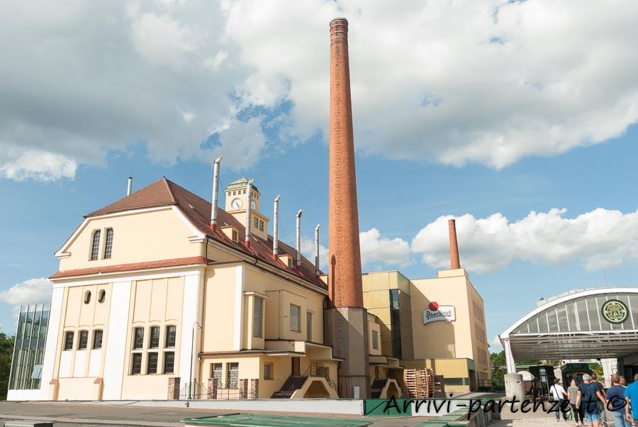 Esterno della fabbrica della birra di Pilsen,Repubblica Ceca