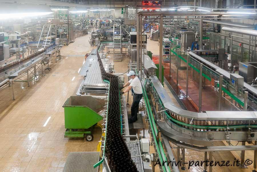Interno della fabbrica della birra a Pilsen, Repubblica Ceca