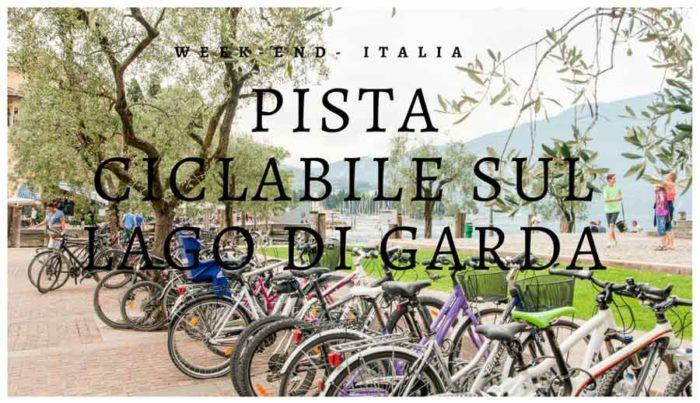 Parcheggio di biciclette a Riva del Garda, Trentino - Alto Adige