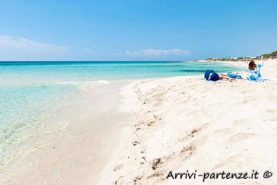 Spiaggia di Punta Prosciutto a Porto Cesareo, Puglia