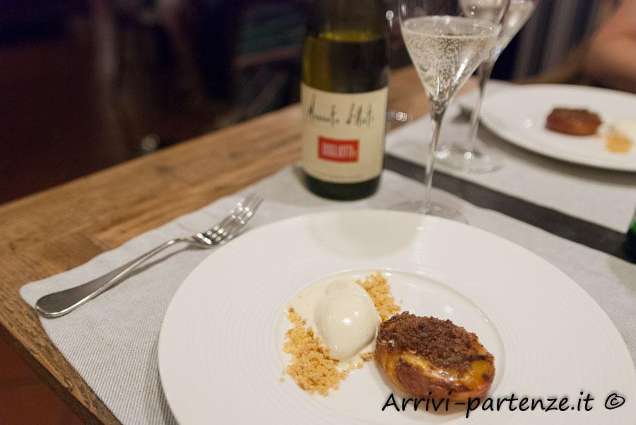 Dessert presso il ristorante Q33 del Tenimento Al Castello di Sillavengo, Novara