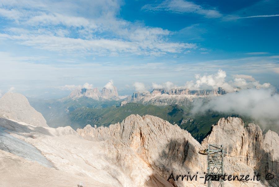 Vista dalla Marmolada delle Dolomiti