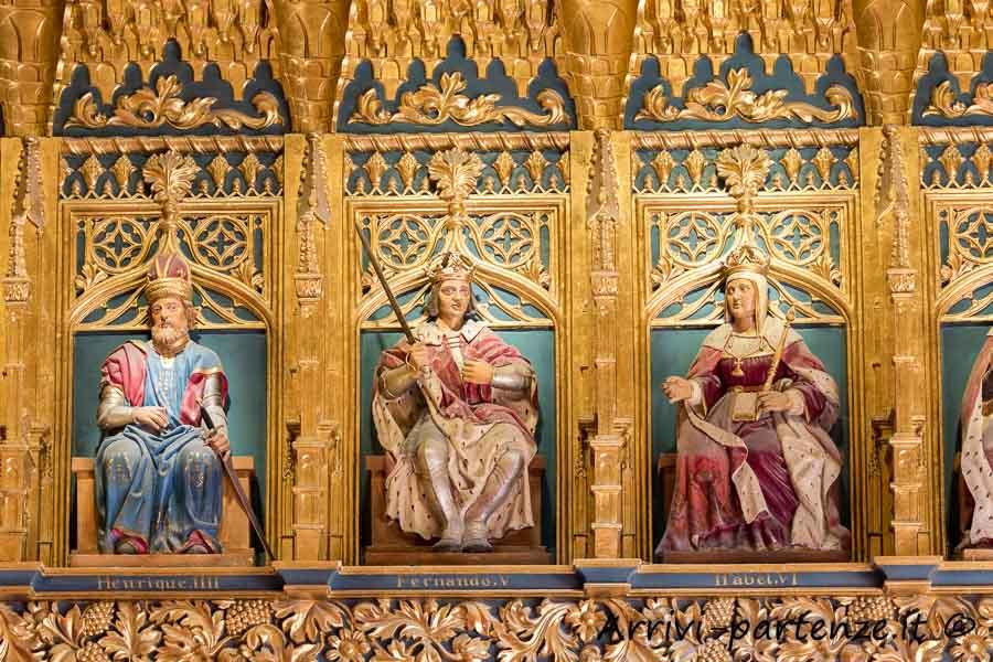 Particolari dell'interno dell'Alcazar a Segovia, Spagna