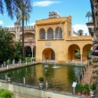 Presso l'Alhambra di Siviglia in Andalusia, Spagna