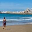 Spiaggia di Cadice in Andalusia, Spagna