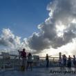 Turisti che ammirano dall'alto Siviglia in Andalusia, Spagna