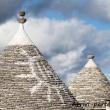 Simbolo sul tetto dei trulli ad Alberobello, Puglia