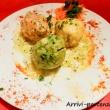 Tris di canederli presso un ristorante di Arabba, Veneto