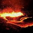 Zampilli di lava presso Erta Ale, Etiopia