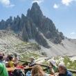 Pranzo al Rifugio Locatelli presso le Tre cime di Lavaredo, Veneto