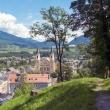 Vista del centro storico di Brunico, Alto Adige