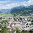 Vista di Brunico dall'alto, Alto Adige