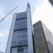 Vista dei grattacieli a Francoforte, Germania
