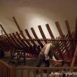 Ricostruzione di un veliero all'interno del Museo del Mare Galata, Genova