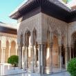 Patio de los Leones dell'Alhambra di Granada in Andalusia, Spagna