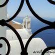 Scorcio nei pressi di Oia sull'isola di Santorini, Grecia
