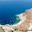 Spiaggia sull'isola di Santorini, Grecia