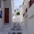 Stradine di Mykonos, Grecia