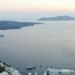 Tramonto a Fira sull'isola di Santorini, Grecia