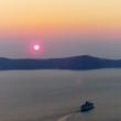 Tramonto da Fira sull'isola di Santorini, Grecia