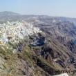 Vista di Fira da Phirostefani sull'isola di Santorini, Grecia