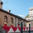 Edifici presso la Chiesa di San Giovanni Battista a Gubbio, Umbria