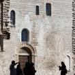 Turisti in Piazza Grande, Gubbio