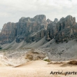 Vista delle Tofane dal Lagazuoi, Veneto
