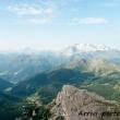 Vista del Col di Lana dal Lagazuoi, Veneto