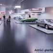 Visitatori all'interno del Museo dell'Alfa Romeo, Arese