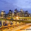 Grattacieli alla sera, New York city