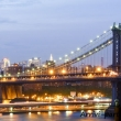 Ponte di Brooklyn alla sera, New York city