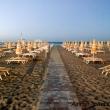 Spiaggia al tramonto, Rimini