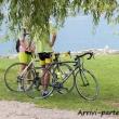 Ciclisti nei pressi di Riva del Garda, Trentino - Alto Adige