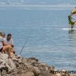 Pescatori nei pressi di Riva del Garda, Trentino - Alto Adige
