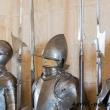 Armature all'interno dell'Alcazar a Segovia, Spagna