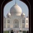Vista del Taj Mahal dall'ingresso sud - Agra, India