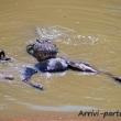 Coccodrillo con la preda, Tanzania