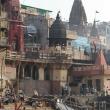 Forno crematorio sulla riva del Gange a Varanasi, Uttar Pradesh, India