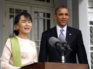 Aung San Suu Kyi e il presidente Obama