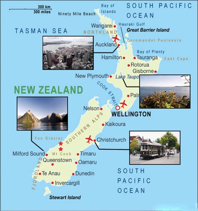 Nuova Zelanda, l'isola del Nord