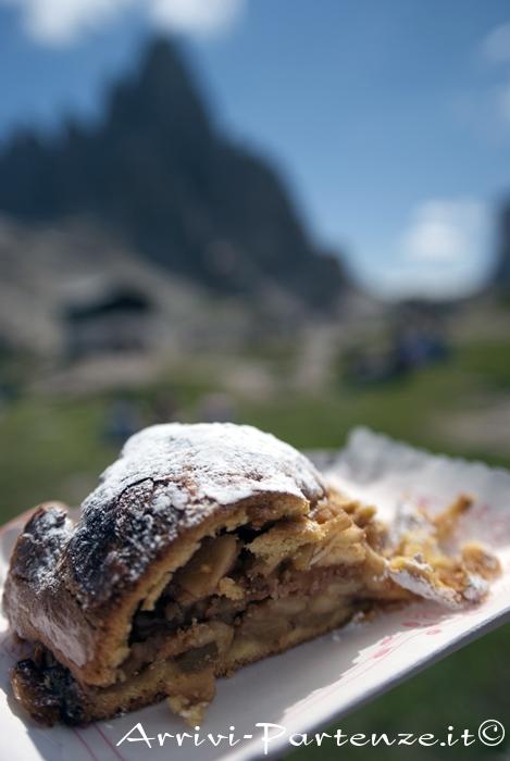 Strudel di mele al rifugio Locatelli, Alto Adige
