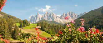 Dolomiti Odle viste da Santa Maddalena, Trentino-Alto Adige