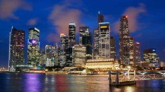 Grattacieli illuminati, Singapore