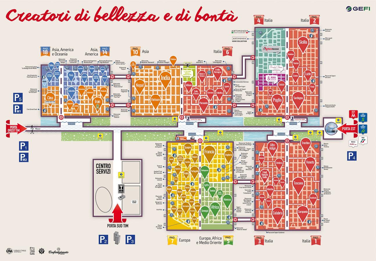 mappa dell'Artigiano in Fiera di Milano 2017
