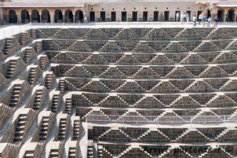 Pozzo Chand Baori ad Abhaneri in Rajasthan, India