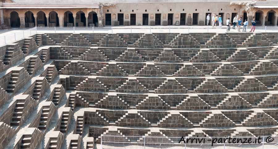 Pozzo Chand Baori ad Abhaneri in Rajasthan, India